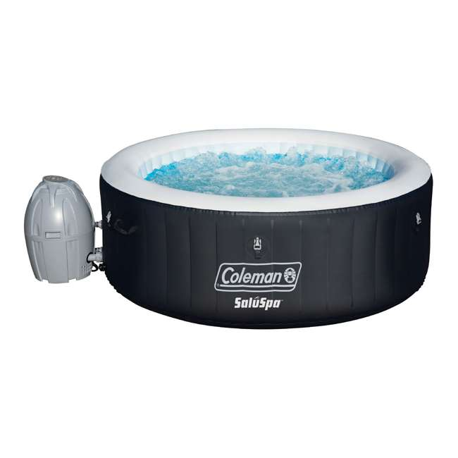 13804-BW Coleman SaluSpa Inflatable Hot Tub, Black