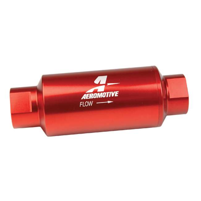 AERO-12301 Aeromotive 12301 In-Line Filter (AN-10) 10 Micron Fabric Element, Red Finish