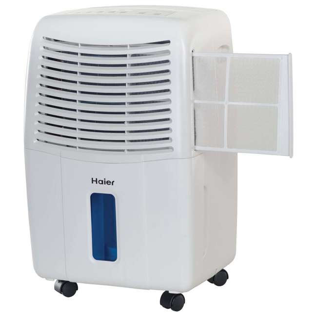 DE65EM-U-C Haier 2 Speed Portable Electronic Air Indoor Dehumidifier with Drain (For Parts) 2
