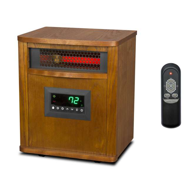 LS-ZCHT1097US Lifesmart 6 Element Quartz Mica Electric Space Heater w/ 3 Heat Settings