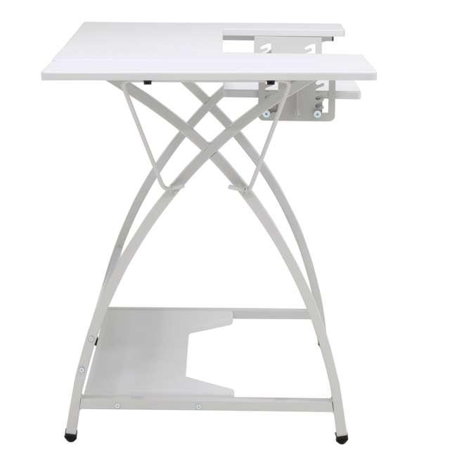 STDN-38017 Sew Ready STDN-38017 Venus Sewing Machine Craft Hobby Table Computer Desk, White 6