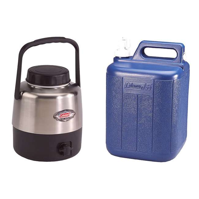 6501A707 + 5620B718G Coleman Belted Jug (1.3 Gal) + Water Carrier (5 Gal)