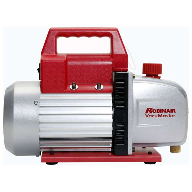 ROB-15500 + RB-48510 Robinair Heavy Duty 1/3 HP 2 Stage Vacuum Pump with Refrigerant Manifold Set 1