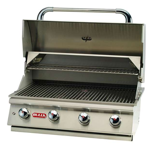 BOP-87049 Bull Lonestar 4 Burner 30'' SS Natural Gas Fired Barbecue Grill Head (Open Box)