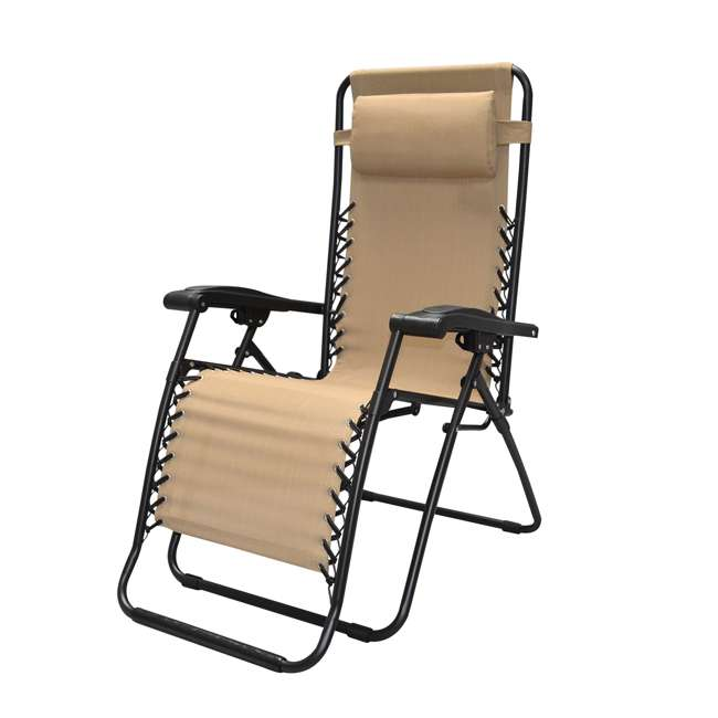 CVAN80009000152-2PK-U-B Caravan Canopy Infinity Zero Gravity Steel Frame Patio Deck Chair (Pair) (Used) 2
