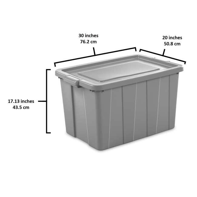 4 x 16796A04 Sterilite Tuff1 30 Gallon Plastic Storage Tote Container Bin w/ Lid (4 Pack) 2