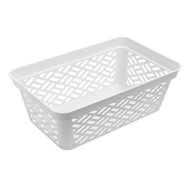 12 x FBA32137 Ezy Storage Medium Decorative Plastic Brickor Shelf Pantry Basket Bin (12 Pack) 3