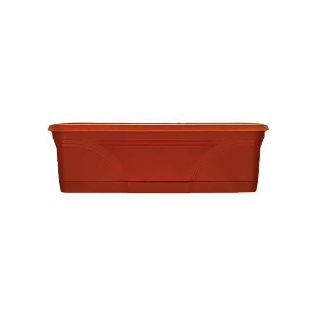 SPAT-MB3612TC Southern Patio 36 In Medallion Hanging Windowsill Garden Box Planter, Terracotta