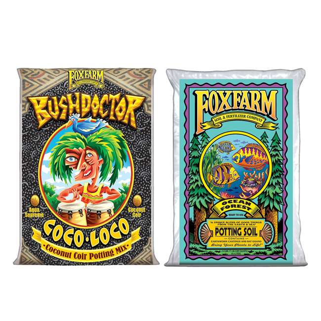 FX14100 + FX14000 FoxFarm Coco Loco & Ocean Forest Garden Potting Soil Mix