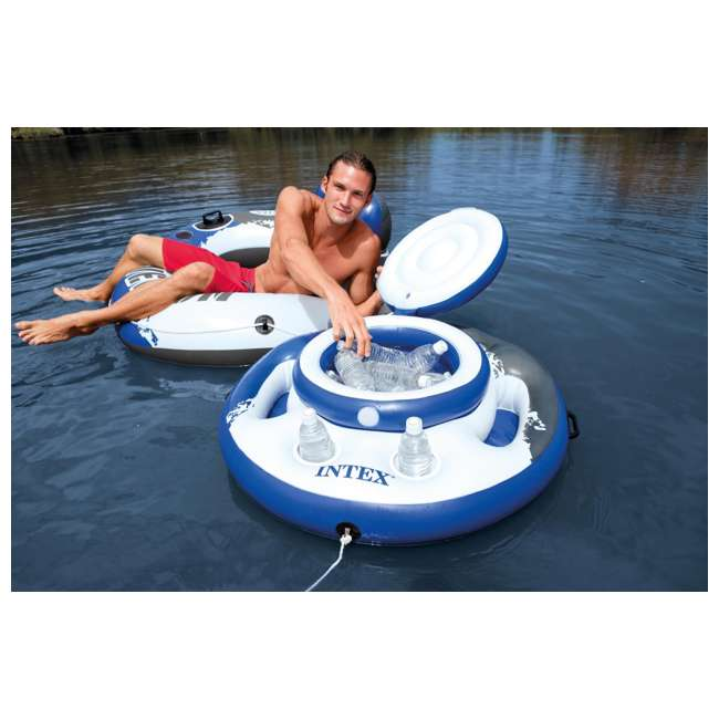 6 x 56822EP-U-A Intex Mega Chill Pool Inflatable Floating 24 Beverage Cooler (Open Box) (6 Pack) 1