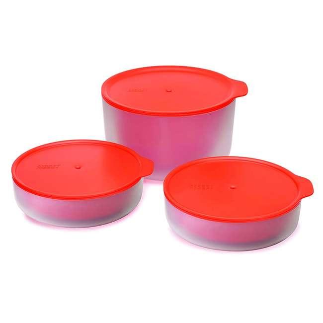 45010-JJ Joseph Joseph M Cuisine Cool Touch 3 Piece Microwave Cookware Bowl Set, Orange