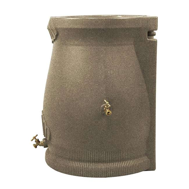 RWURN50-SAN Good Ideas Rain Wizard Barrel Urn 50 Gallons, Sandstone 2