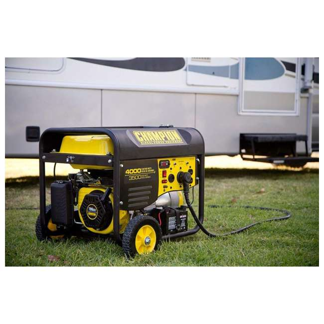 CPE-GN-46539 Champion 46539 Portable Wheeled Wireless Start Gas Powered 3500 Watt Generator 3