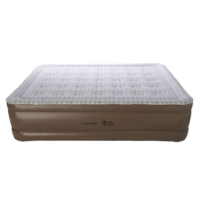840017BP Insta-Bed Raised Inflatable Queen Air Mattress Bed with Pump, Plaid (2 Pack) 3