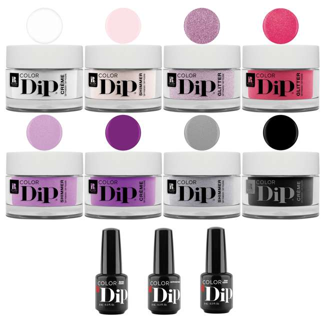 1900213-RCMDIP8PACK Red Carpet Manicure Nail Color Dip Dipping Powder Whole Essentials Kit, 8 Colors 1