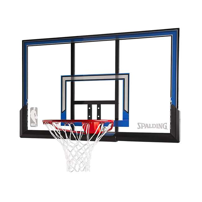 "79349 Spalding 50"" Outdoor Polycarbonate Basketball Backboard & Hoop 1"