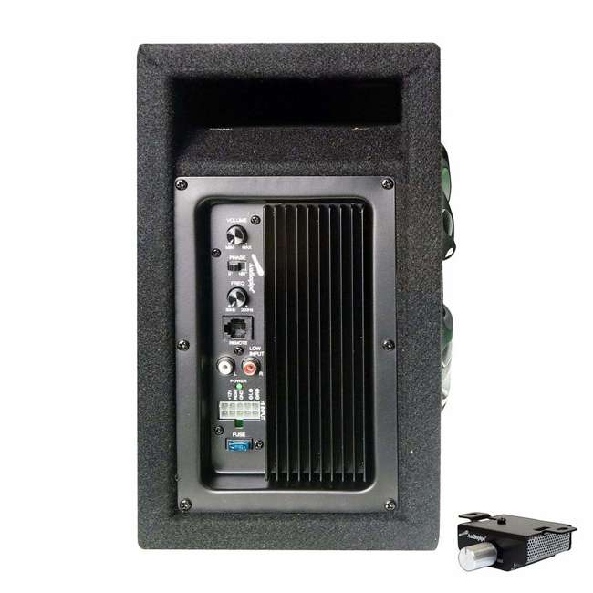 AP-MINIB-800A Audiopipe 8 Inch Powerful 500 Watt Amplified Single Ported Bass Enclosure, Black 3
