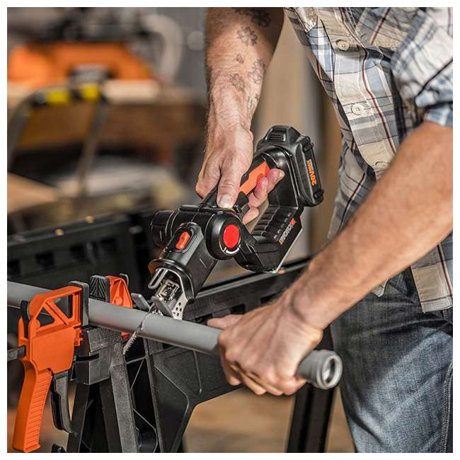 WX550L Worx 20V Axis MaxLithium Battery 2-In-1 Cordless Reciprocating and Jig Saw Tool 6