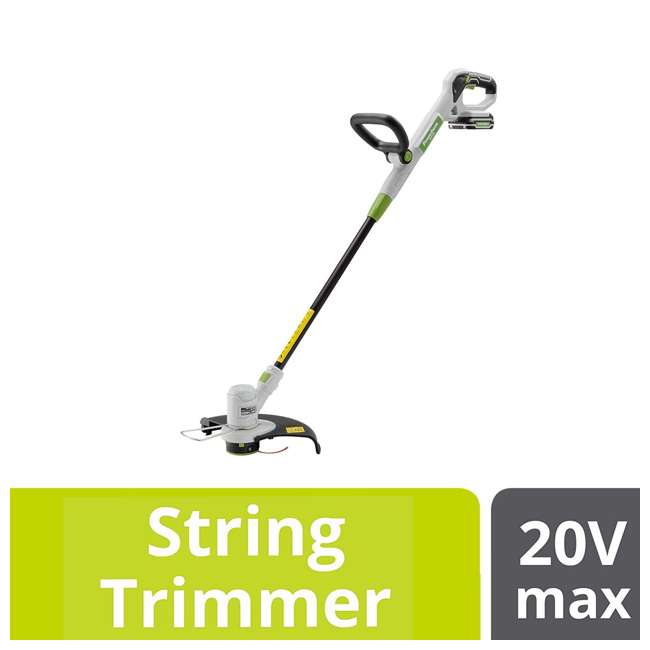 PGT120 + PLB12040 PowerSmith 20V Max Cordless Battery Powered Lawn String Trimmer w/ Extra Battery 5