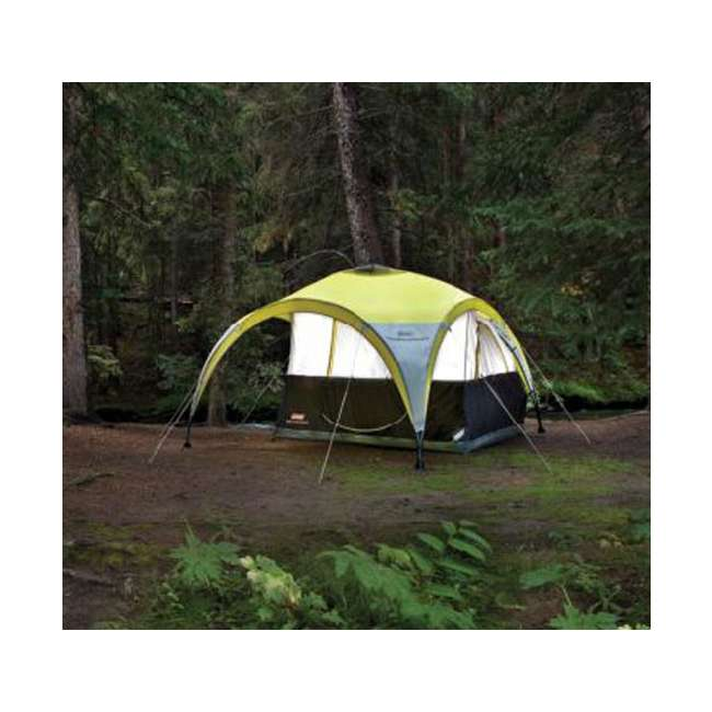 Coleman Canopy Shelter : Coleman two person for all day dome tent w shelter