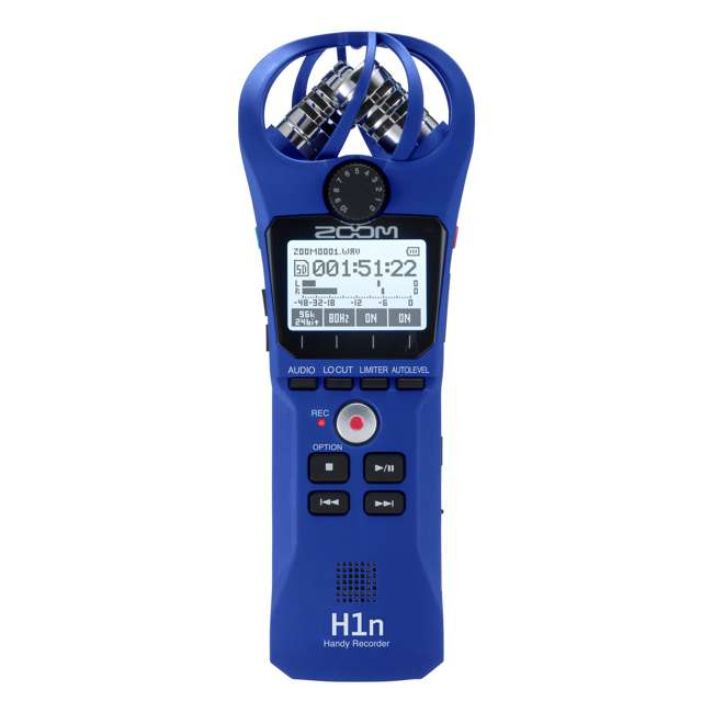 H1N-BLUE Zoom Handy Portable Wireless Digital Audio Recorder & Mike, Blue 2