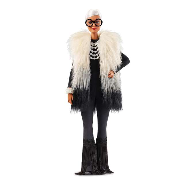 FWJ27 Barbie Collector Styled by Iris Apfel Doll with Multi-Hued Vest and Accessories