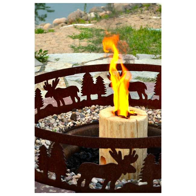 TBT-1002 TimberTote Large 12x8 Inch One Log Campfire Camping Cooking Camp Fire Wood Log 3