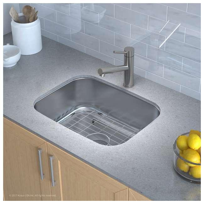 KBU12 Kraus 23-Inch Rounded Undermount Stainless Steel Kitchen Sink (2 Pack) 2