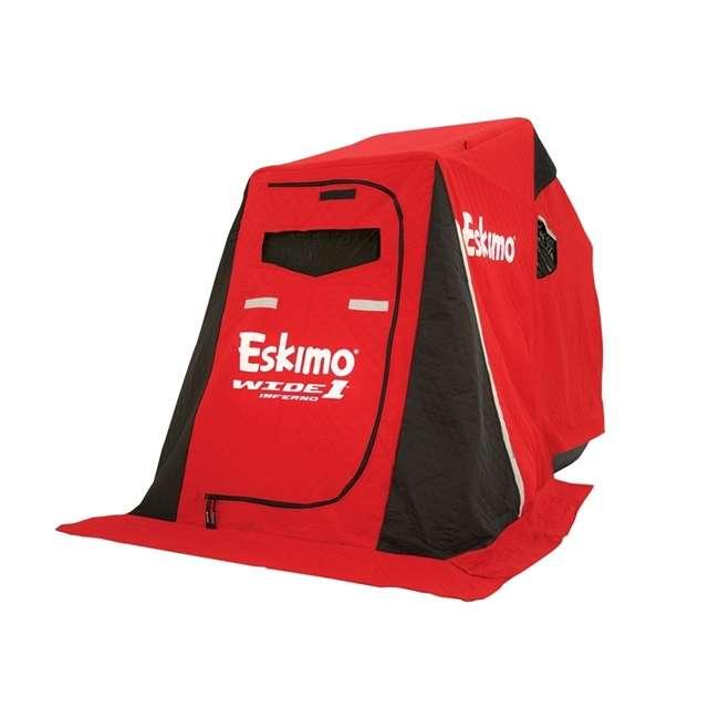 ESK-15350  Eskimo ESK-15350 Wide 1 Inferno Expandable Flip Style Ice Fishing Shelter, Red