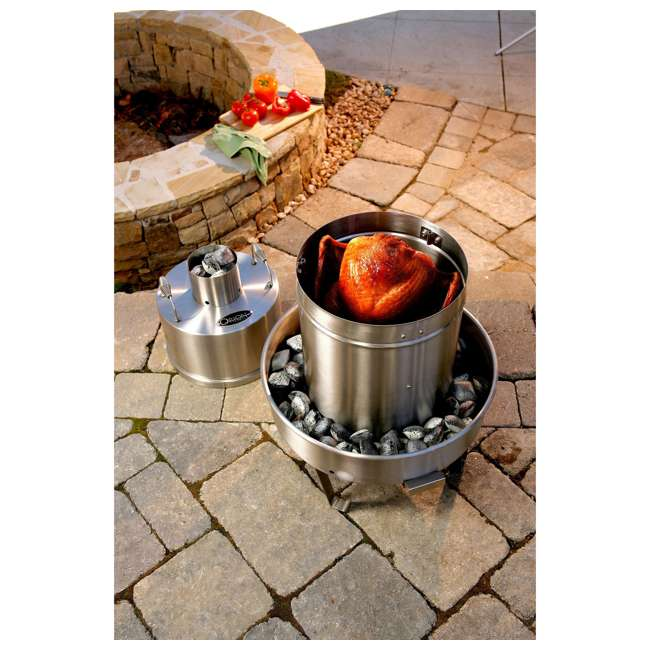 OC-CKR01 + OC-CRV01 Orion Cooker Outdoor Convection Steam Cooker Barbecue Smoker + Heavy Duty Nylon Lined Cover 6