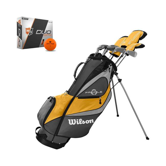 WGGC43700 + WGWP40800 Wilson Profile XD Men's RH Golf Club Complete Set and Balls