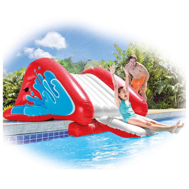 58849VM-U-B Intex Kool Splash Inflatable Water Slide Center w/ Sprayer, Red (Used) (2 Pack) 3