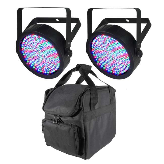 SLIM-PAR64 + CHS-25 Chauvet Slim-Par 64 LED Stage Light (2 Pack) + Carry Bag