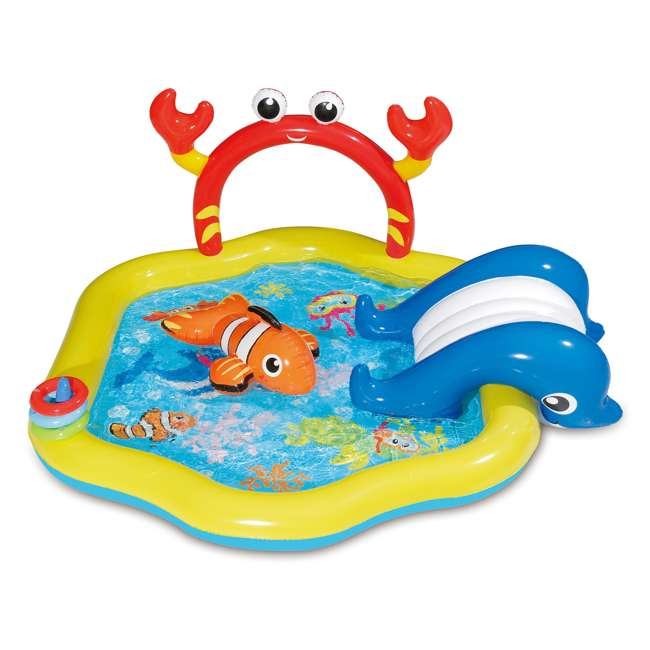 KA0047000167 + KA0040000167 Summer Waves Jungle Animal and Under the Sea Kiddie Pools 2