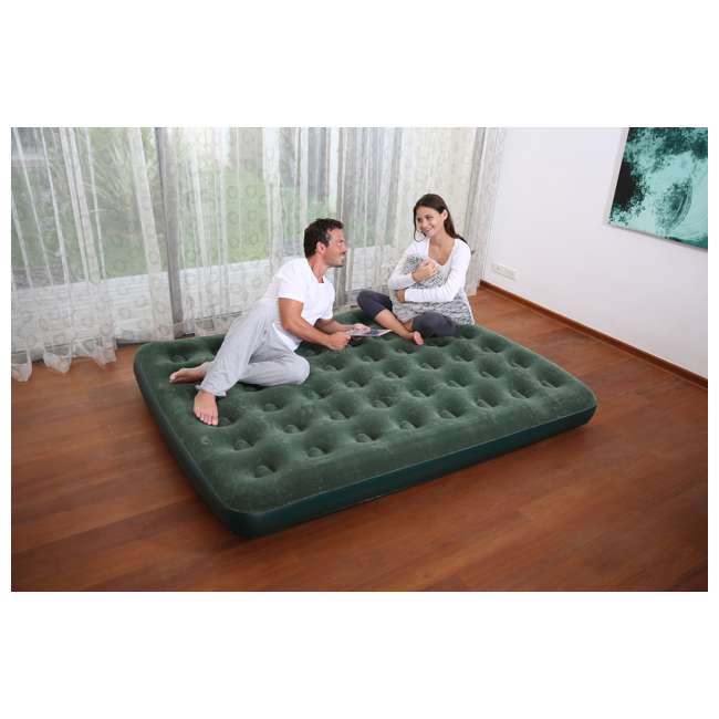 Bestway Flocked Air Bed Mattress With Battery Pump Queen