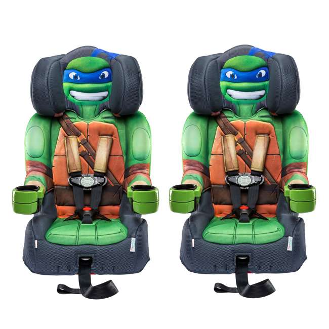 KE-65500LEO KidsEmbrace Teenage Mutant Ninja Turtles Leo Harness Booster Car Seat (2 Pack)