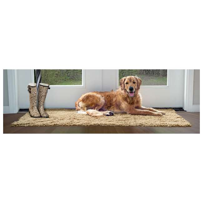 80551613 Furhaven 80551613 Jumbo Absorbent Runner Muddy Paws Towel and Shammy Rug, Sand