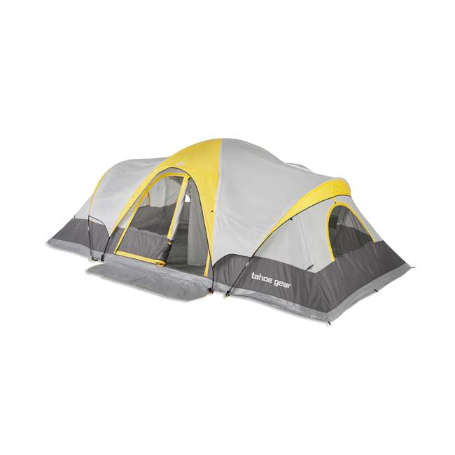 TGT-MANITOBA-14-C Tahoe Gear Manitoba 14-Person Family Outdoor Camping Tent w/ Rainfly, Orange