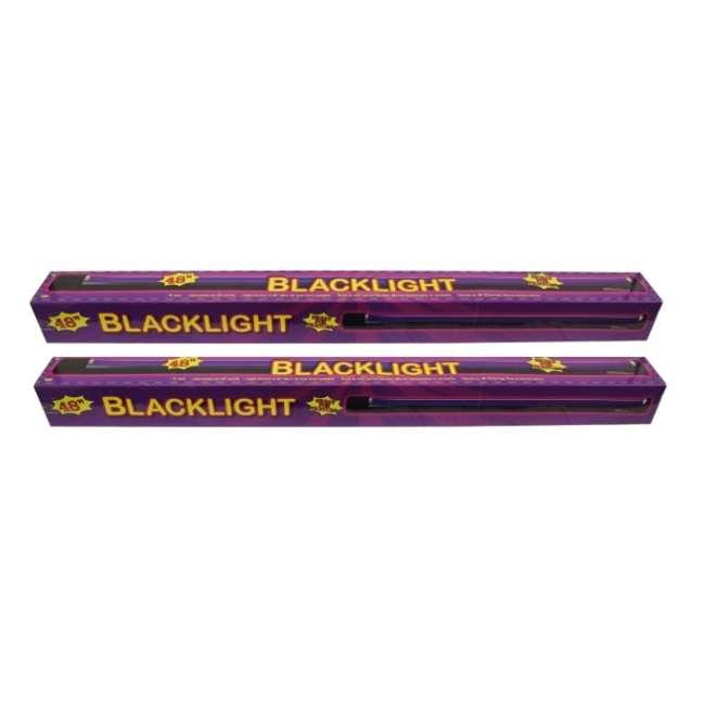 61272 2 Halloween DJ 48-Inch UV Florescent BlackLights & Bulb (Pair)