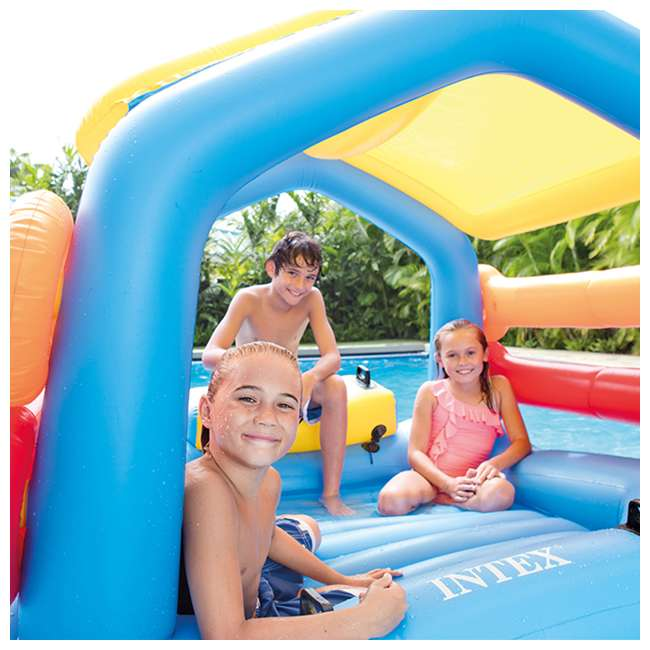 58294EP Intex Inflatable Island Hut Pool Float with Slide 3