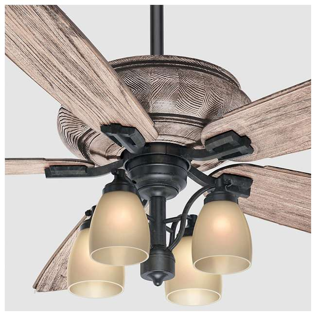 "55052 Casablanca 55052 Heathridge Tahoe 60"" Electric Indoor Wood Ceiling Fan & Remote 3"