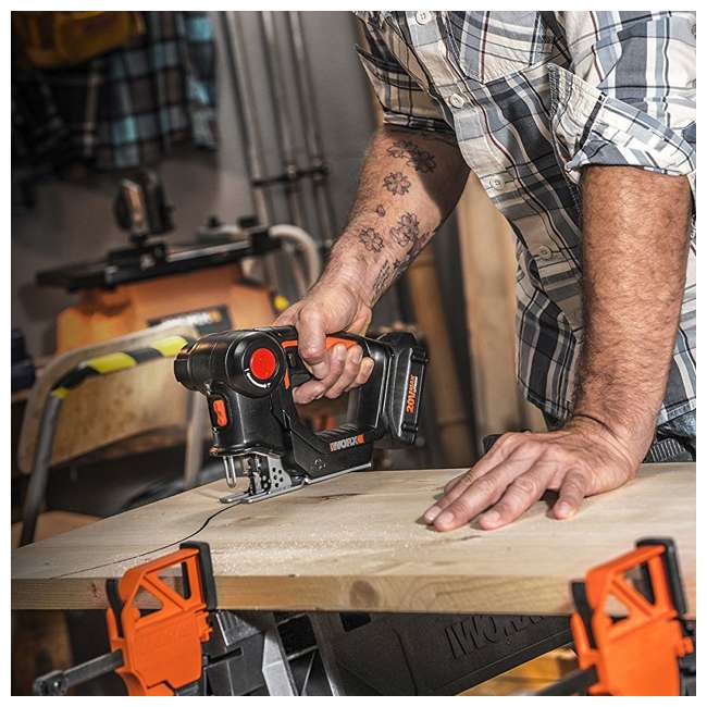 WX550L Worx 20V Axis MaxLithium Battery 2-In-1 Cordless Reciprocating and Jig Saw Tool 5