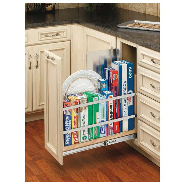 447-BCBBSC-8C Rev-A-Shelf 447-BCBBSC-8C 8 Inch Kitchen Pull Out Tray Divider Cabinet Organizer 2