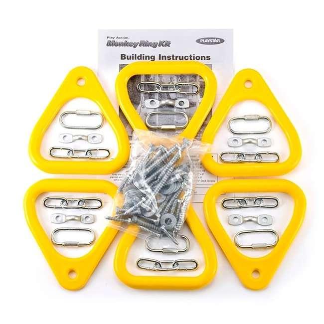 PS 7744 Playstar PS7744 Teardrop Solid Heavy Duty Welded Link Chain Monkey Ring Kit 3
