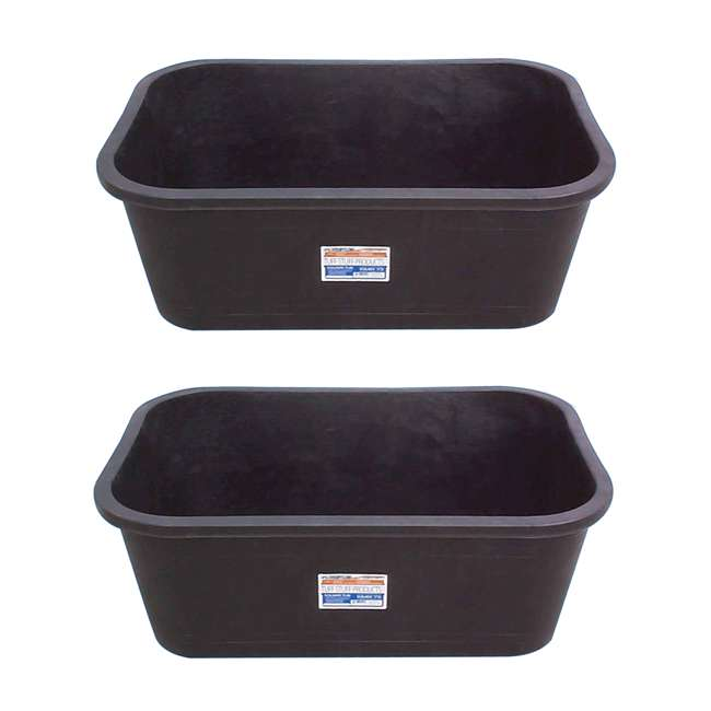 TS-KMR75 Tuff Stuff Heavy Duty 75 Gallon Rectangular Water Storage Tank Tub (2 Pack)