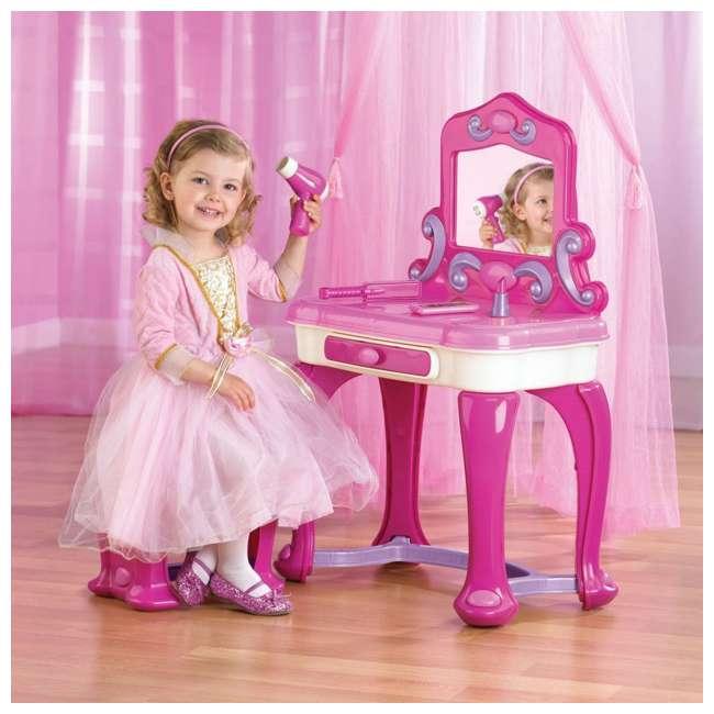 APT-24000 American Plastic Toys Kids Very Own Pink Deluxe Vanity Playset with Mirror  1