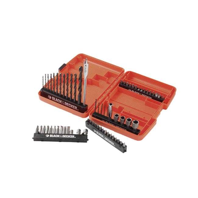BDCK502C1 + 71-966 + BDMKIT101C Black & Decker Drill Driver Combo Kit & 66 Piece Bit Set & Picture Hanging Kit 2