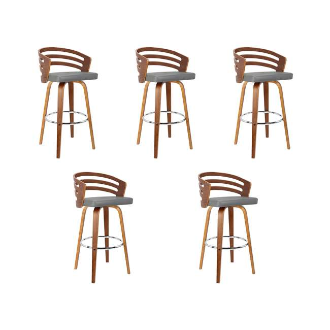 5 x LCJYBAGRWA26 Armen Living Jayden 26 Inch Mid Century Swivel Barstool Chair, Gray (5 Pack)