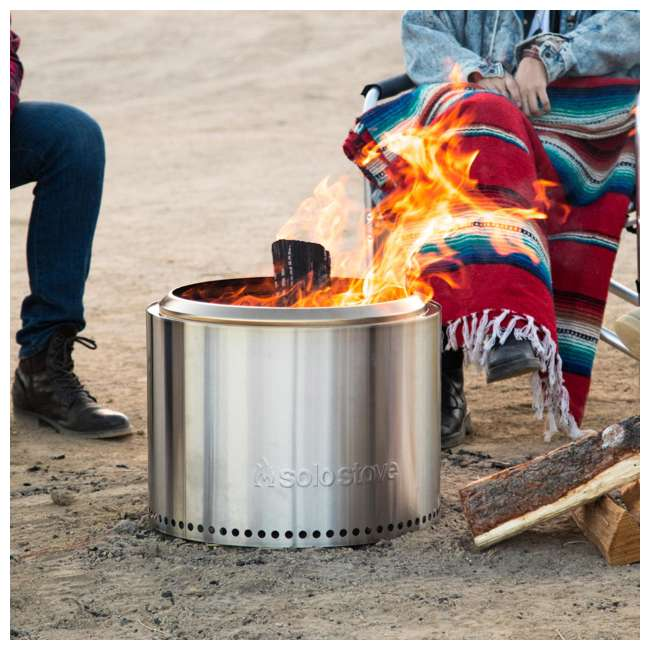 SSBON Solo Stove Outdoor Campsite Doubled Walled Stainless Steel Portable Bonfire 4