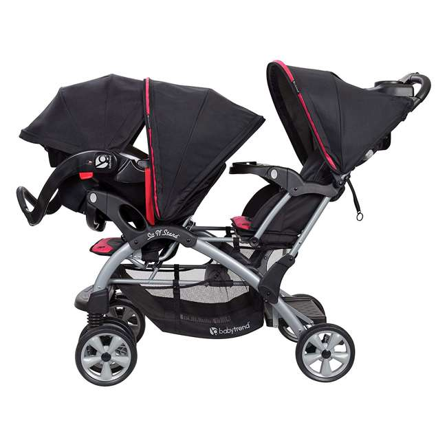 Baby Trend Double Stroller Amp 2 Infant Car Seats Optic